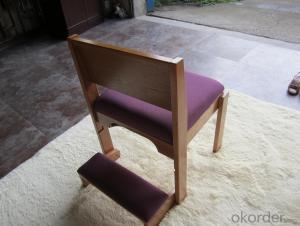 Church chair with hossock
