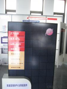 Double glass efficient BIPV solar module