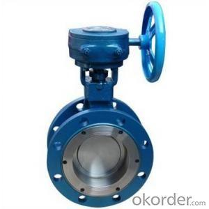 Ductile Iron Body and Disc Double Flange Butterfly Valve