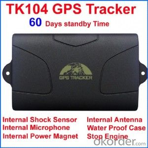 Vehicle GPS Tracker TK104 with 60 days standby time battery