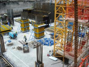 High Stiffness Concrete Column Formwork For Pouring Circular