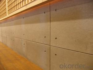 UV Coating Wood Grain Decorative Fiber  Cement Board