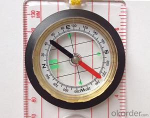 Transparant Map Scale Compass DC45-D