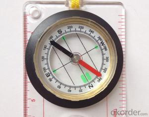 Transparant Map Scale Compass DC45-5