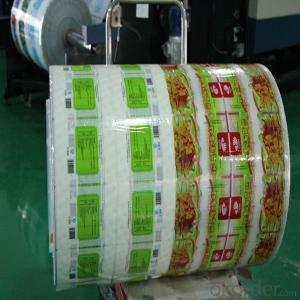 Lamination film foil aluminum with PET and PE