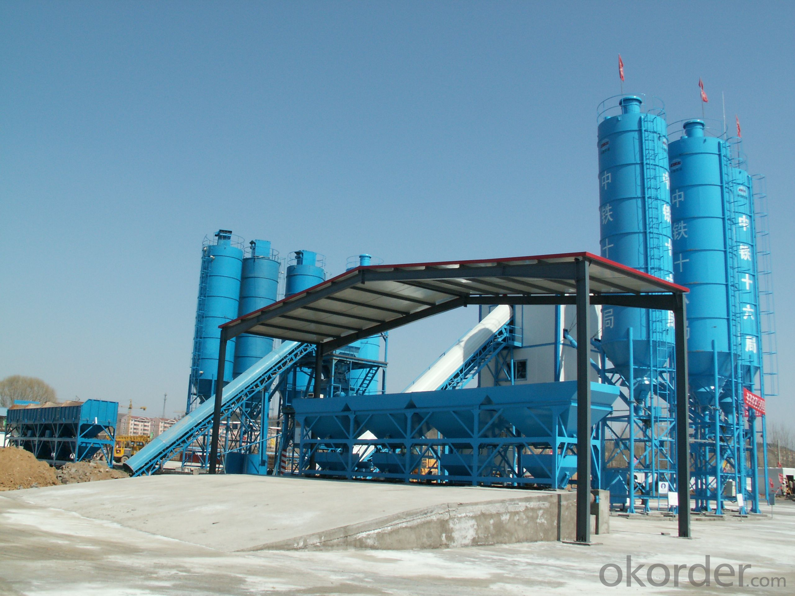 Famous brand concrete mixing plant for construction,production capacity is 180 cube meter per hour
