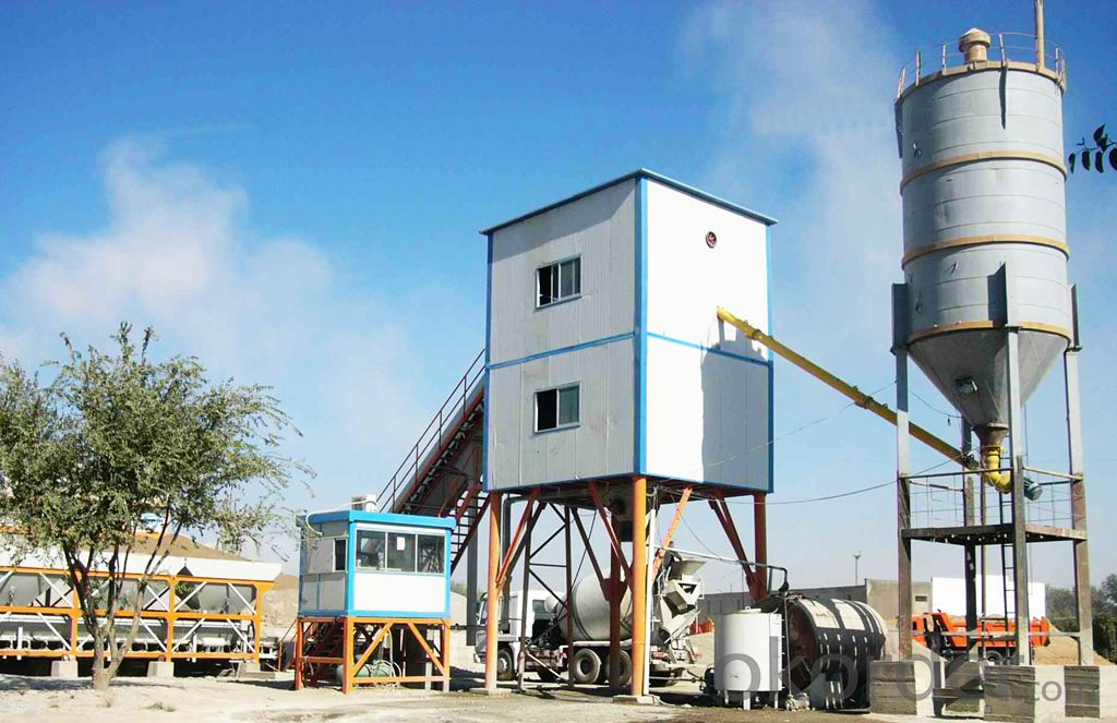 High qualiy 60 cube per hour concrete batching plant