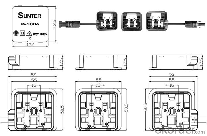 PV Junction Box -3 boxes