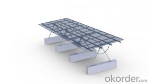 Solar mounting system double pile maual system