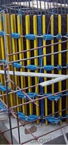 Adjustable Arced for formwork and scaffolding system