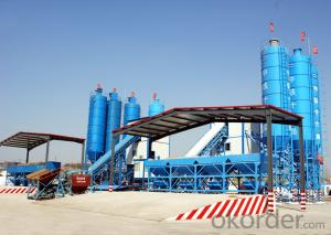 Famous brand concrete mixing plant for construction,production capacity is 90 cube meter per hour