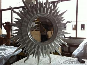 plain beveled decorative mirror,multi faceted fractal wall mirror,