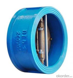 Ductile Iron Body Bronze Disc Double Disc Check Valve