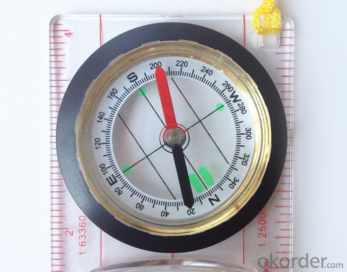 Transparant Map Scale Compass DC45-5B