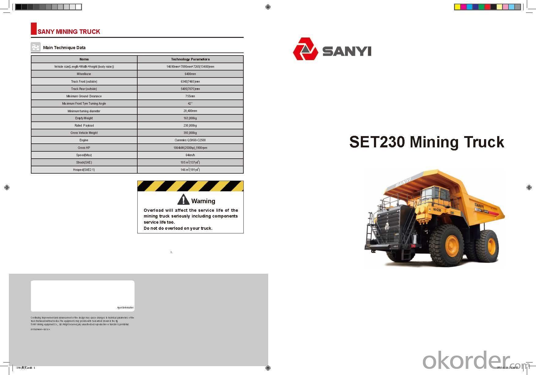 SANYI MINGING TRUCK SET230M