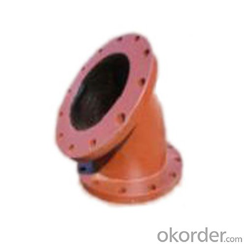 Ductile Iron Pipe Fitting Epoxy coating Double Flange Bend