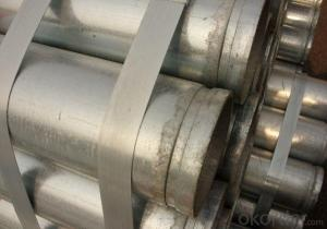 galvanized seamless grooved pipe