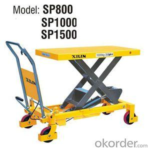 EU Type Manual Lift Table- SP800/1000/1500