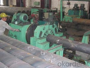 welded pipe flat head chamfering machine roll forming