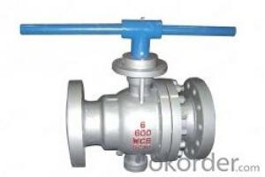 Cast Steel Trunnion Mounted Flange Ball Valve DN300