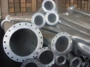 hot dipped galvanized pipe with flanges