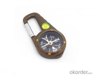 Metal Carabiner Magnetic Compass T4386-B