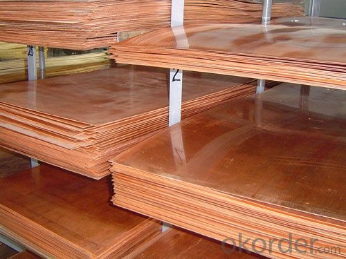 polished copper sheet-plate