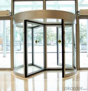 Revolving door three wings