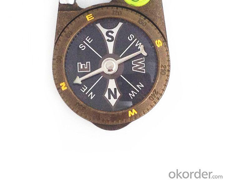 Metal Carabiner Magnetic Compass T4386
