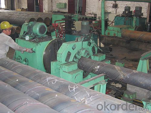 straight seam submerged arc welded pipe flat head machine