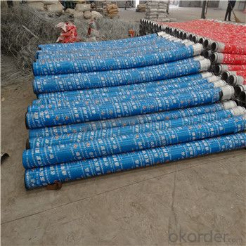 concrete pump rubber hose with single flange end