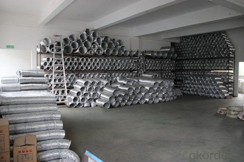 Round Plain Double Aluminum Layer Aluminum Flexible Bare Duct Good Quality