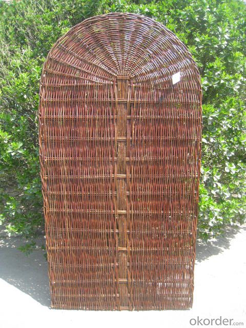 WICKER FENCE GARDEN DECORATION PANEL