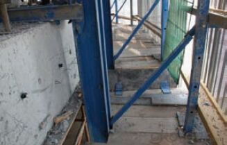 Protection formwork system and scaffolding system