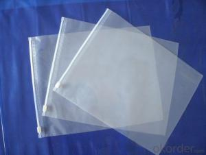Designed Plastic bag with adhesive