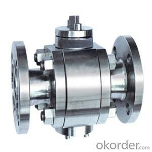 Cast Steel Trunnion Mounted Flange Ball Valve DN200