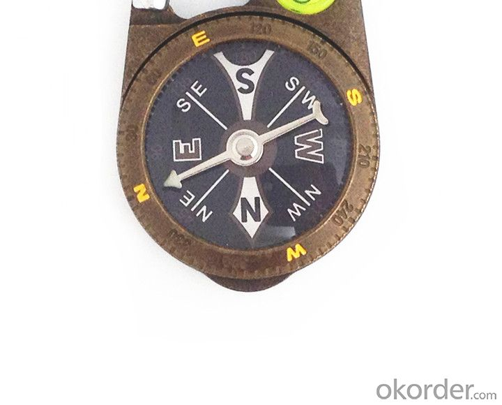 Metal Carabiner Magnetic Compass T4386-2