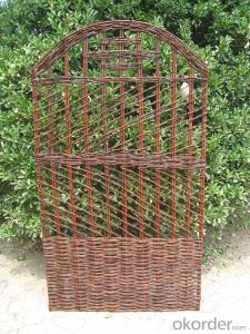 WICKER NATURAL FENCE GARDEN DECORATION PANEL