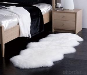 White Faux Fur Sheepskin  Rug