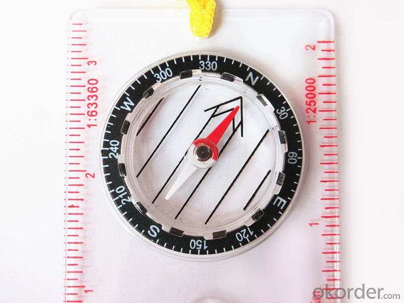 Professional Mapping Mini Compass with Scale