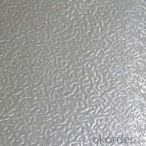 Aluminum figured sheet for