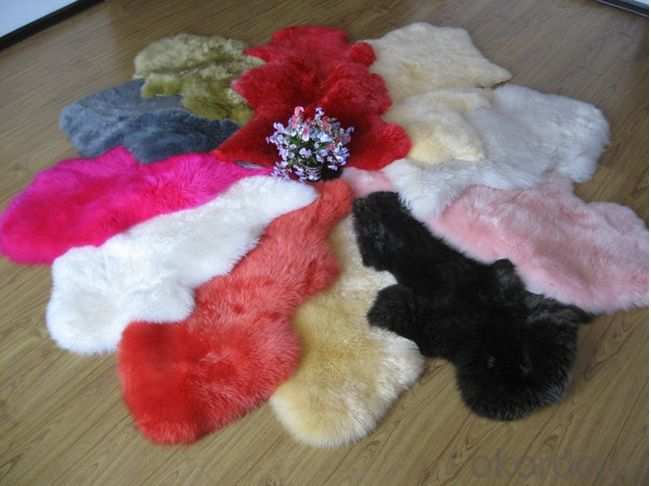 Colorful Faux Fur Sheepskin  Rug