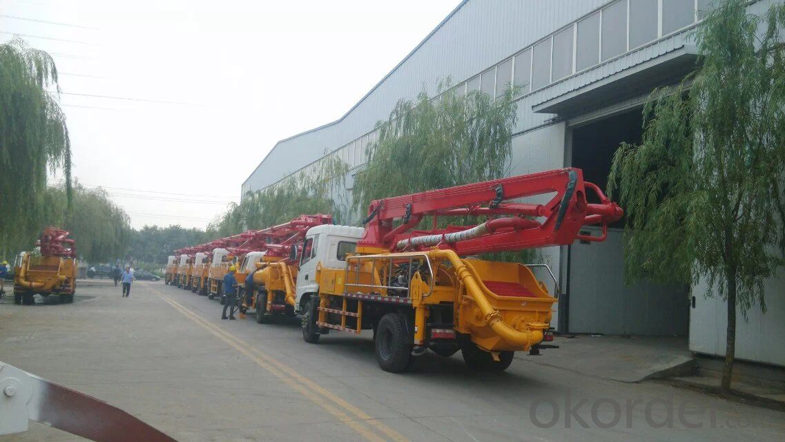 small  type  concrete  boom pump 21m 25m 29m
