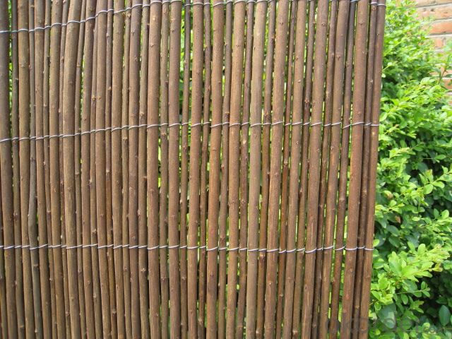 WICKER NATURAL FENCING GARDEN DECORATION PANEL