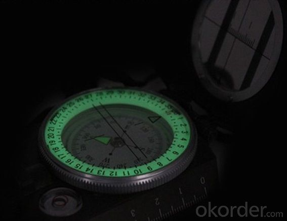 Metal Army or Military Compass DC60-2A with Nightlight