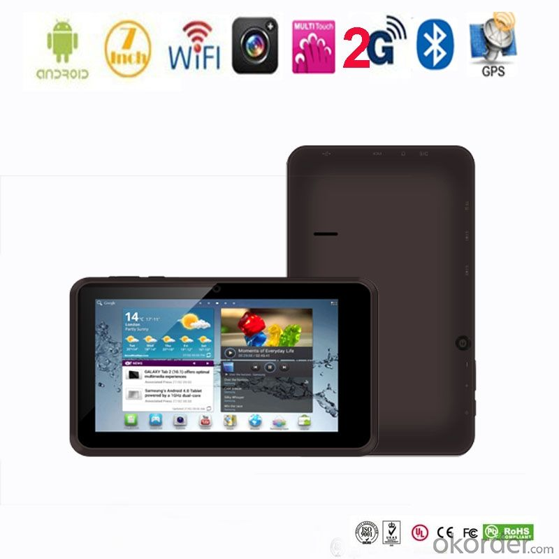 Popular 7 inch Android tablet phone 2g with GPS Bluetooth