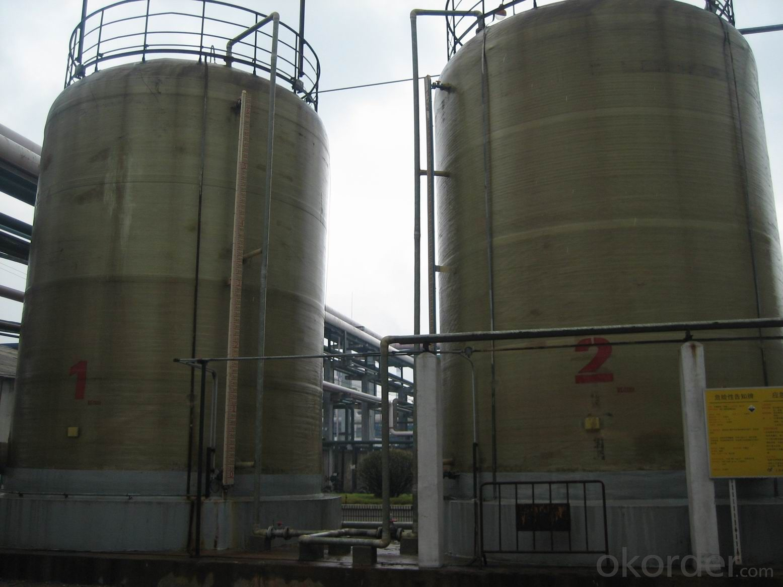 FRP Tanks for Water Treatment/FRP Soft Water Tank On Hot Sales /Fiber Glass Reinforced Plastic Vessels for Water Treatmen DN5000