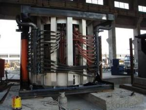 Pig iron melting induction furnace