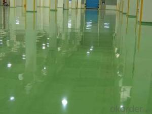 Solventless epoxy self leveling