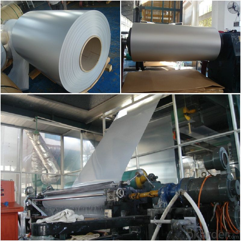 PE silver color coated aluminium Rolls